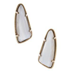 Kendra Scott Everett Stud Earrings - Banded White